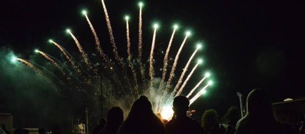 Fuochi d'artificio per il 4 luglio, l'Independense Day.