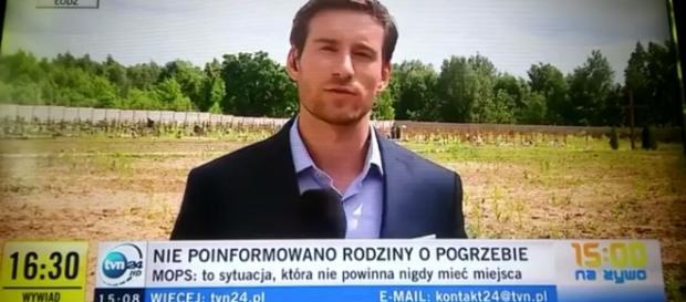 Reporter TVN (źródło: youtube.com)