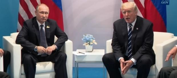 Russian President Putin and U.S. President Trump. / [Image screenshot from White House via YouTube:https://youtu.be/OF_XYjBCxq0]