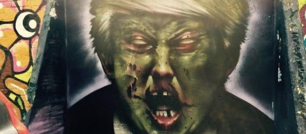 Zombie Trump street art / [Image by Matt From London via Flickr, CC BY 2.0]