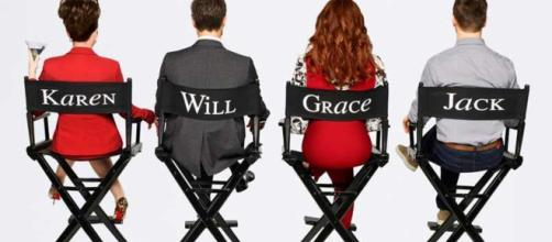 Again with the studio chairs in new 'Will & Grace' season 9 promo. / from 'US Weekly' - usmagazine.com