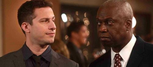 "Andy Samberg and Andre Braugher play two of the leads in ""Brooklyn Nine-Nine,"" which Guillermo del Toro is now a fan of. (SpoilerTV/FOX)"