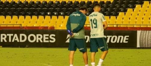 Cuca poupou vários titulares na partida diante do Grêmio. (Foto: Reprodução)