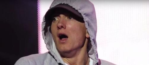 Eminem is reportedly collaborating with Justin Bieber on the rapper's upcoming album. Photo by Stereotude/YouTube Screenshot