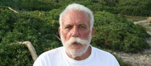 L'indipendentista sardo Doddore Meloni ai tempi dell'occupazione dell'Isola di Mal di Ventre nel 2008 (Foto: Paolo Camedda)