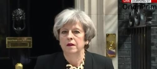 "Prime Minister Theresa May Speech After Cobra Meeting ""Enough is Enough"" Image credit OrionPrime Youtube"