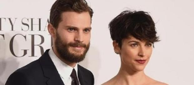 "Jamie Dornan and Amelia Warner at ""Fifty Shades of Grey"" premiere - Entertainment Tonight/YouTube"