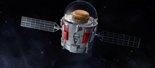 KFC launching a chicken sandwich into space | KFC/Twitter