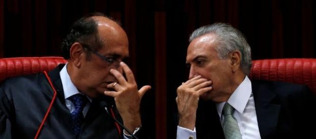 Mendes e Temer constantemente fazem reuniões fora da agenda