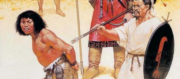 Prisioneros de guerra en manos de guerreros
