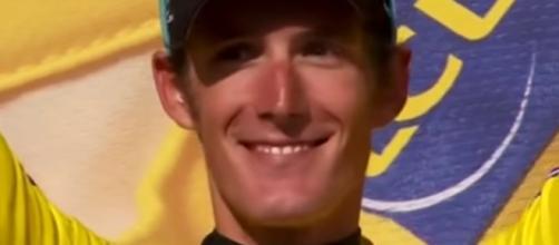Andy Schleck in maglia gialla al Tour de France