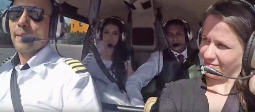 Câmera registrou queda de helicóptero que matou noiva em SP (Foto: Reprodução)