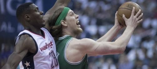 Ian Mahinmi, Kelly Olynyk, Celtics at Wizards 5/7/17 by author Keith Allison via Flickr