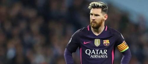 Lionel Messi jugando por FC Barcelona