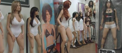 Sex robots made by a company called Real Doll | Engadget/YouTube