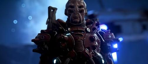 """The Batarians might be transitioning to the Andromeda Galaxy. Photo via screenshot MASS EFFECT™: ANDROMEDA """"Prepare for Platinum"""" Teaser"""