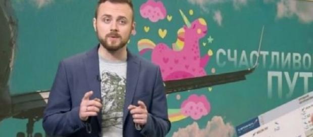 Andrei Afanasiev, desde el canal religioso ruso Tsargrad TV, ofreciendo billetes a gays para abandonar el país