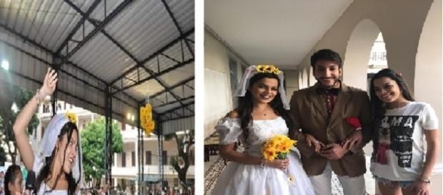 Emilly diz que está encalhada e publica foto vestida de noiva (Foto: Reprodução)