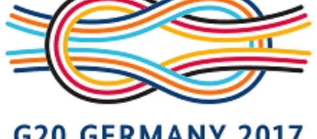 G-20 logo credits:wikipedia https://de.wikipedia.org/wiki/G20-Gipfel_in_Hamburg_2017