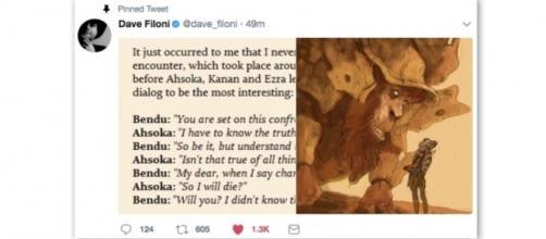 Dave Filoni Revelation about fan favorite Ahsoka Tano via Twitter