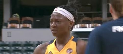 Erica Wheeler will try to lead the Indiana Fever to another win over Atlanta in Friday's away game. [Image via WNBA/YouTube]