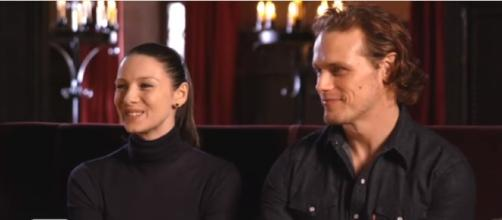 'Outlander' Stars Sam Heughan and Caitriona Balfe Answer Your Biggest Fan Questions! - Entertainment Tonight/YouTube