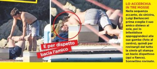 Luigi Berlusconi a Villa Certosa (credits: Oggi)