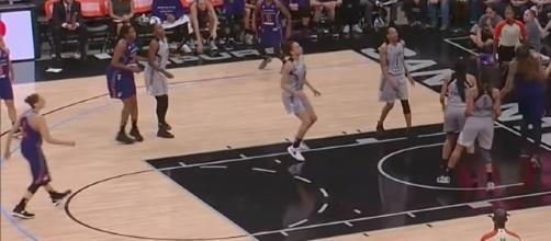 The San Antonio Stars host the Phoenix Mercury in Friday night's WNBA action. [Image via WNBA/YouTube]