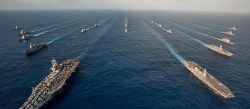 US sent small armada to South China Sea (image Credit: businessinsider.com)