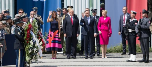 The U.S. and Polish presidents and their wives in Warsaw. Photo via White House Flickr.