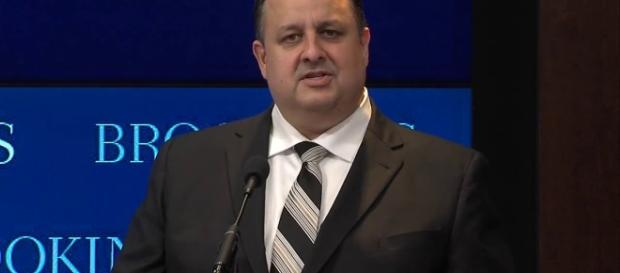Walter Shaub just resigned as director of the OGE. Photo via Brookings Institution, YouTube.