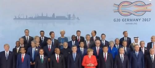 A Group photo of the world leaders during the G20 summit in Hamburg, Germany/ Photo via YouTube/PRESIDENT DONALD TRUMP NEWS & LIVE SPEECH 2017