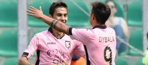 Chocev, centrocampista del Palermo.