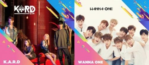 K.A.R.D. and Wanna One join KCON 2017 LA (via KCON promotions for KCON 2017 LA)