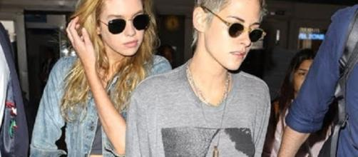 Kristen Stewart and Stella Maxwell arriving at LAX - X17onlineVideo/YouTube