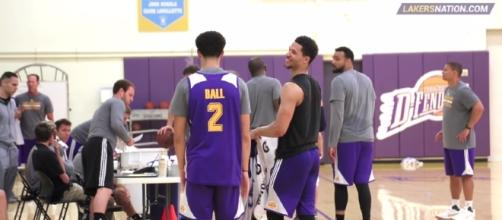 Lonzo Ball talking to Josh Hart - Youtube/LakersNation Channel