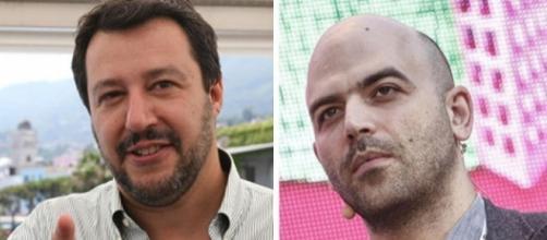 Matteo Salvini e Roberto Saviano, tra i critici più duri di Renzi dopo la svolta sui migranti