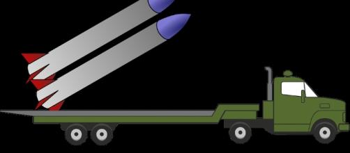 Missile on a trailor. The North has them https://pixabay.com/en/army-military-missile-tow-truck-1294262/