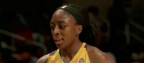 Reigning WNBA MVP Nneka Ogwumike and the Sparks visit the Seattle Storm on Saturday night. [Image via WNBA/YouTube]
