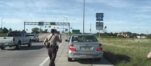 Still shot from dashcam video of traffic stop released by Boone County Sheriff's Department