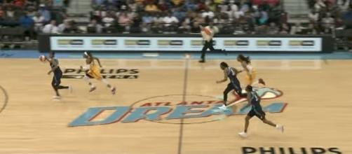 The Atlanta Dream topped the Indiana Fever 89-68 on Friday night. [Image via WNBA/YouTube]