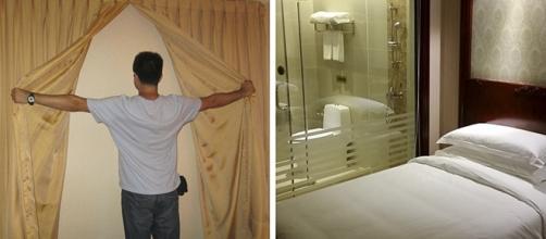 Uma janela de parede e um banheiro com parede de vidro, surpresas nada agradáveis que os hóspedes encontram em alguns hotéis