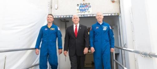 VP Mike Pence at NASA. Photo via Mike Pence, Facebook.