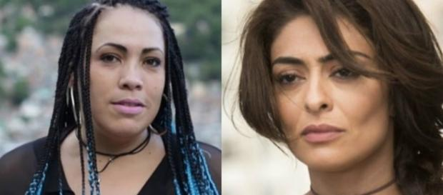 Emocionante encontro entre Fabiana Escobar, conhecida como ''Bibi Perigosa'', e Juliana Paes