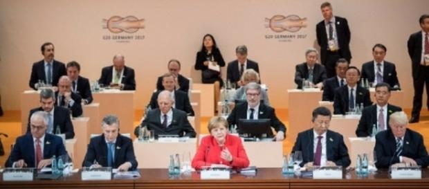 G20 meeting chaired by Angela Merkel. Photo via Bundesregierung, G20.