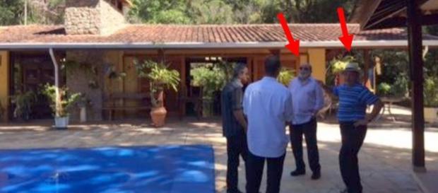 Lula em foto no Sítio de Atibaia