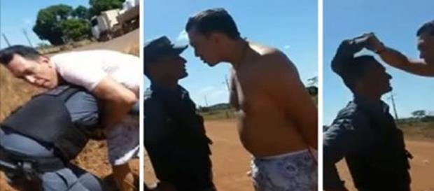 Promotor Fábio Camilo da Silva agride PMS no Mato Grosso