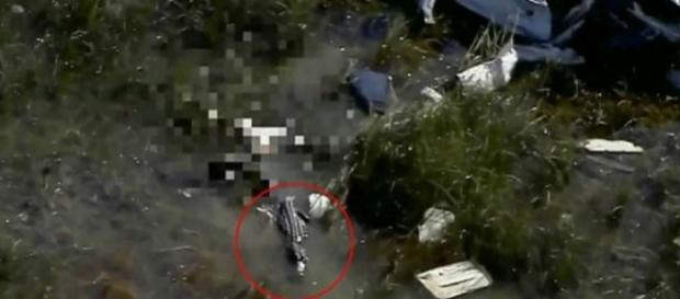 Registro foi gravado por helicóptero de equipe de notícias