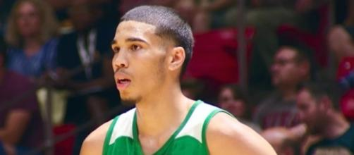Jayson Tatum and the Celtics defeated Lonzo Ball and the Lakers in Saturday's NBA Summer League action. [Image via NBA/YouTube]