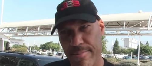 LaVar Ball was the recipient of a swear from Sixers' star Joel Embiid on social media. [Image via TMZ/YouTube}